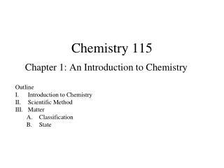 Chemistry 115