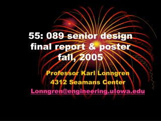 55: 089 senior design final report & poster  fall, 2005