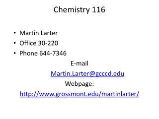 Chemistry 116