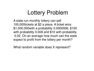Lottery Problem