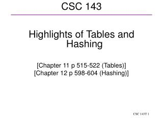 CSC 143
