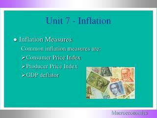 Unit 7 - Inflation
