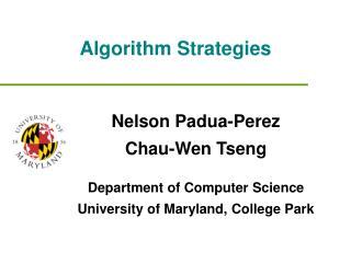 Algorithm Strategies