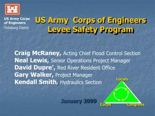 US Army  Corps of Engineers Levee Safety Program
