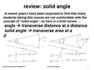 review: solid angle