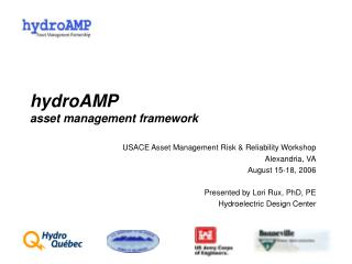 hydroAMP asset management framework
