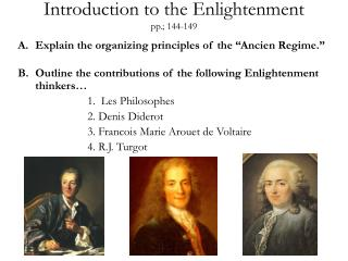 Introduction to the Enlightenment pp.; 144-149