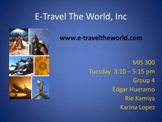 E-Travel The World, Inc