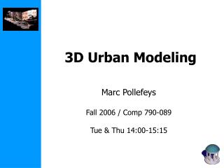 3D Urban Modeling