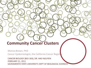Community Cancer Clusters