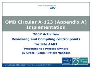 OMB Circular A-123 (Appendix A) Implementation