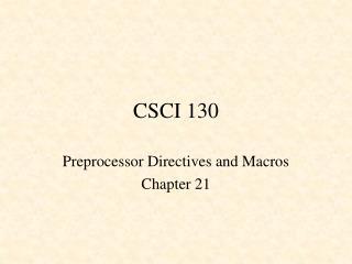 CSCI 130