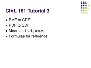 CIVL 181 Tutorial 3