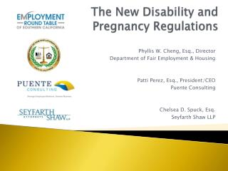 The New Disability and  Pregnancy Regulations