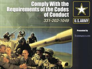 Comply With the Requirements of the Codes of Conduct
