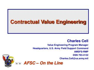 Contractual Value Engineering