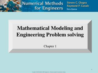 Mathematical Modeling and Engineering Problem solving Chapter 1