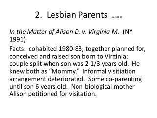 2.  Lesbian Parents   pp. 343-49