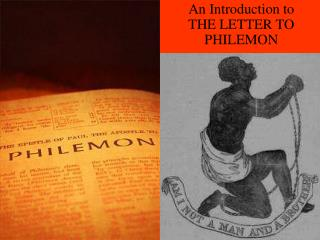 An Introduction to THE LETTER TO  PHILEMON