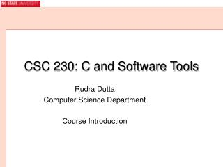 CSC 230: C and Software Tools
