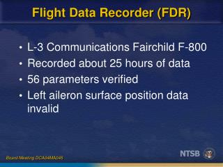 Flight Data Recorder (FDR)