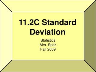 11.2C Standard Deviation