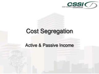 Cost Segregation