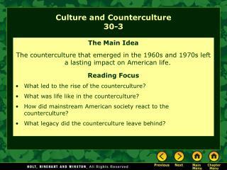 Culture and Counterculture 30-3