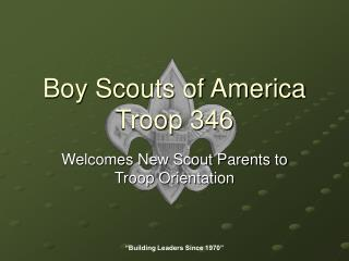 Boy Scouts of America Troop 346