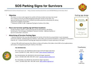 SOS Parking Signs for Survivors