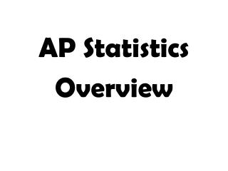 AP Statistics Overview