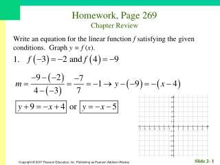 Homework, Page 269 Chapter Review