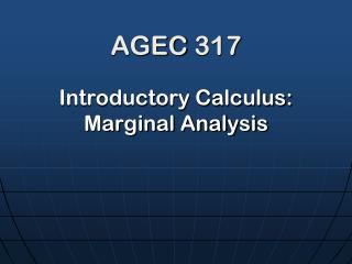 AGEC 317