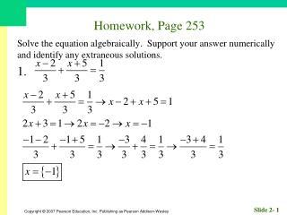 Homework, Page 253