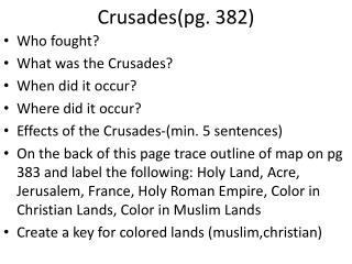 Crusades(pg. 382)