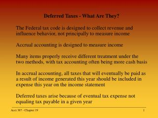 Deferred Taxes - What Are They?