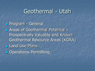 Geothermal - Utah