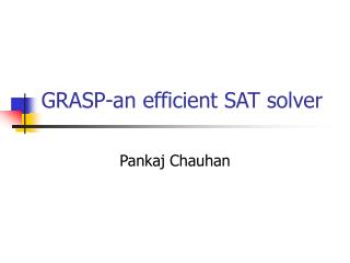 GRASP-an efficient SAT solver