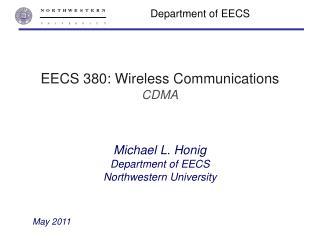 EECS 380: Wireless Communications CDMA