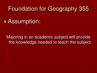 Foundation for Geography 355