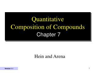 Quantitative  Composition of Compounds Chapter 7