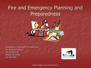 Fire and Emergency Planning and Preparedness