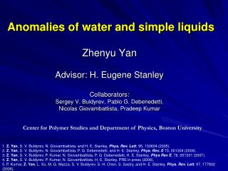 Anomalies of water and simple liquids
