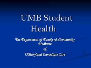 UMB Student Health