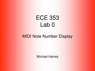 ECE 353 Lab 0