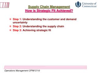 Supply Chain Management How is Strategic Fit Achieved?