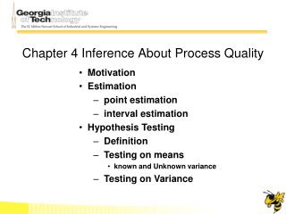 Chapter 4 Inference About Process Quality