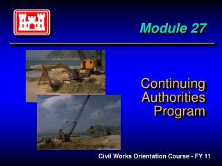 Module 27 Continuing Authorities Program