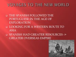 VOYAGES TO THE NEW WORLD