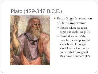 Plato (429-347 B.C.E.)